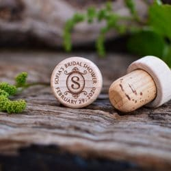 custom wine stopper favors