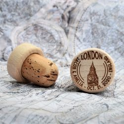 personalized wine stopper london
