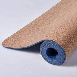 6MM 18361CM Colorful Cork Natural Rubber Yoga Mat