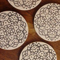 Boho Mandala party coasters