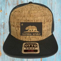California Republic Cork Snap Back Trucker Cap