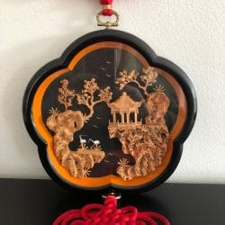 Chinese Shadow Box Frame,Cork Carving