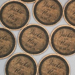 Cork Coaster Wedding Favors for Guests
