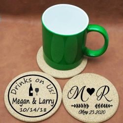 Cork Coasters Wedding Favors for Guests