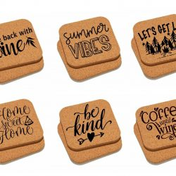 Cork Coasters customized with your text or logo