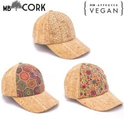 Cork hat natural women men cork Baseball cap