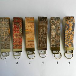 Cork keychain, Vegan keychain