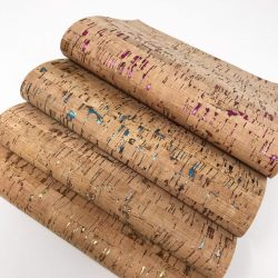 Cork print leather sheets