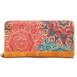 Cork wallet with zip closure