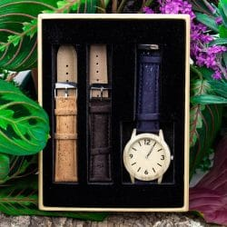 Cork watch, Vegan watch, Men's watch