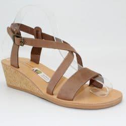 Cork wedges sandals