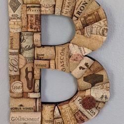 Handmade Wine Cork Letter
