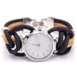 Handmade cork watch for women