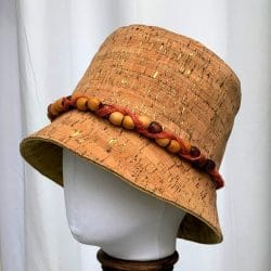 Natural Cork Bucket Hat, Medium-Large Sun Hat