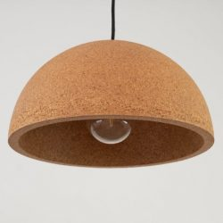 Natural Cork Linear Pendant Lamp
