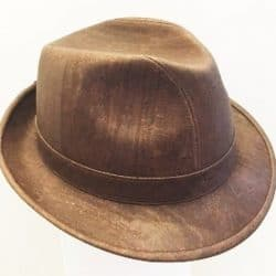 Natural Cork Trilby Vegan Hat