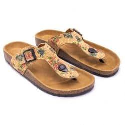 Natural cork pattern sandal