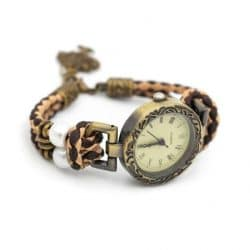 Natural cork with brown cork handmade cork watch