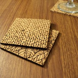 Pattern Cork Coaster