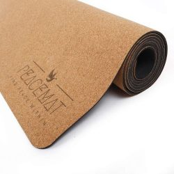 PeaceMat Luxury Cork Yoga Mat whit Natural Rubber Bottom