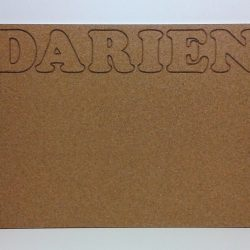 Personalized Cork Board with Engraved Name