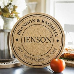 Personalized Jumbo Cork Trivet