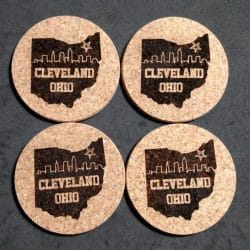 Personalized Thick Cork Coasters cleveland