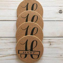Personalized round cork coasters wholesale