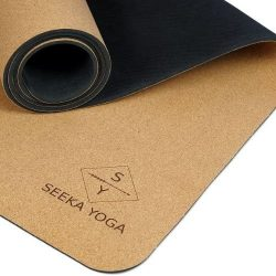 Plants A Tree. Seeka - Premium Cork Yoga Mat - Natural Rubber Bottom