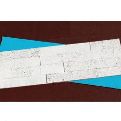 Whitewash Brick Cork Ceiling Tiles Peel & Stick