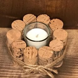 Wine Cork Votive Candle Holders