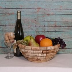 Wine cork bowl