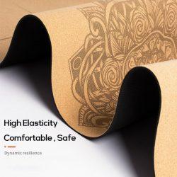 Yoga Mat Natural Cork 5mm or 6mm with Yoga Bag