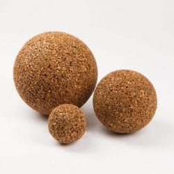 ball, round decoration in recycled natural cork