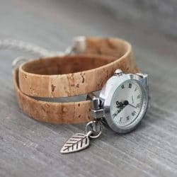 dandelion watch cork vegan ladys watch
