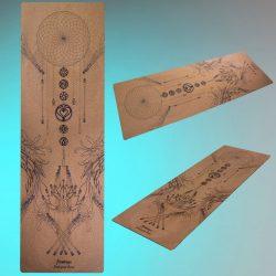 flowtoys natural cork yoga mat