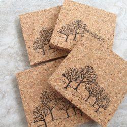 handstamped natural absorbent cork