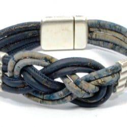 nautical knot bracelet, cork bracelet