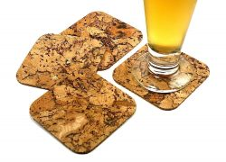 scuare cork coaster