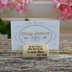 Cork Place Card Holders with Quotes about love