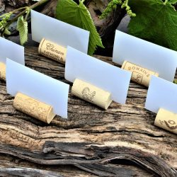 Wine cork place card holders, Differents vineyards